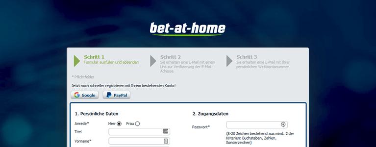Bet-at-Home Registrierung