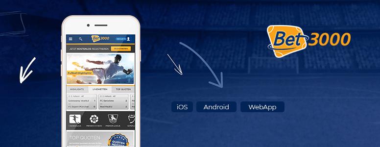 Bet3000 Sportwetten App