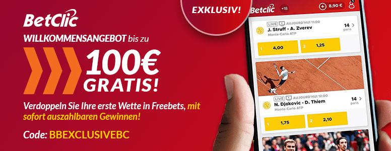 BetClic Sportwetten Bonus