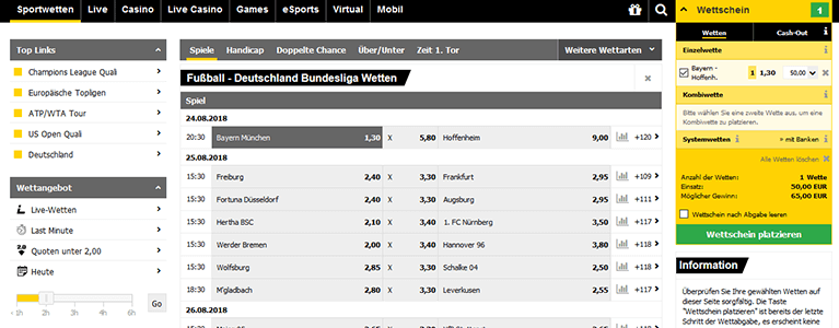 Interwetten Sportwetten & Quoten