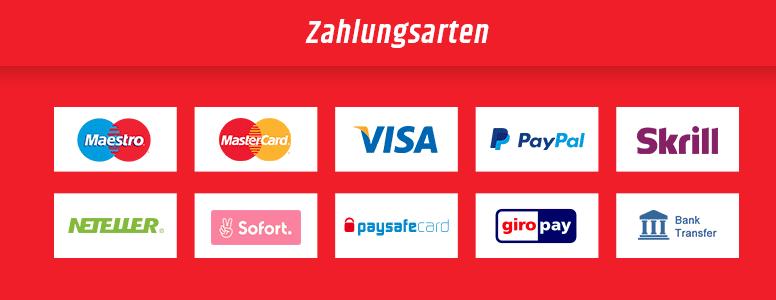 Ladbrokes Zahlungsmethoden