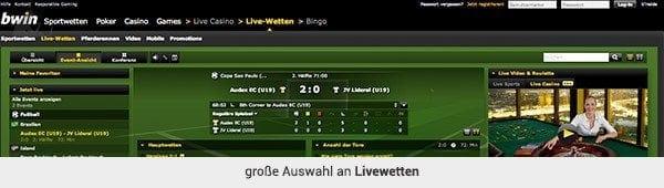bwin Live-Wetten