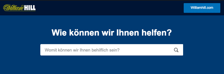 William Hill Support für Kunden