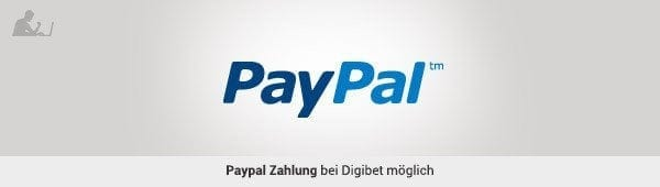 Paypal Zahlung bei digibet