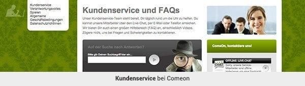 comeon_Kundenservice