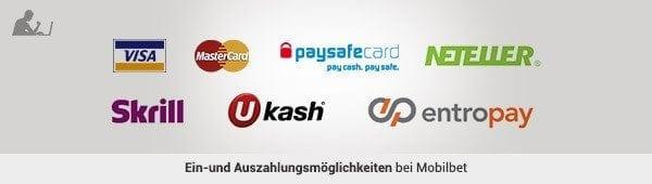 Mobilebet Ein Auzahlungen