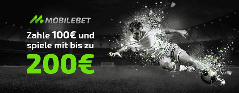 Mobilebet Sportwettenbonus für Neukunden