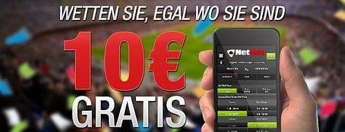 Netbet Mobile 10 Euro Wettbonus