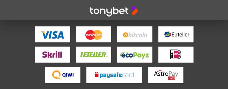 Tonybet Zahlungen