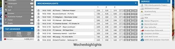 Besondere Angebote von Sportwetten aus Österreich
