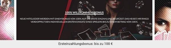 100 Euro erhalten neue Spieler als Bonus