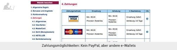 Marathonbet - Einzahlung und Auszahlung