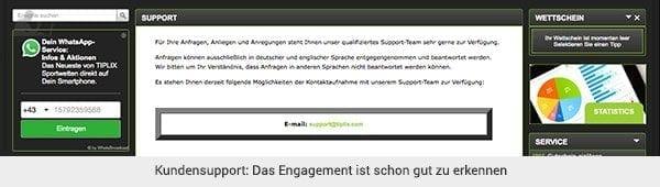 Tiplix Support Kontakt