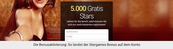 Stargames Bonus aktivieren