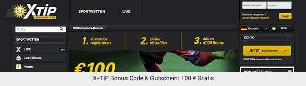X-Tip Bonus Gutschein