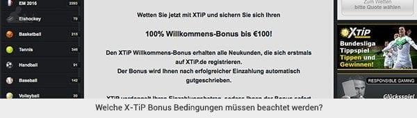 X-TiP Bonus Bedingungen