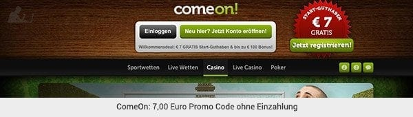 ComeOn Promotion Code