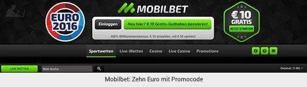 Mobilbet Promotion Code