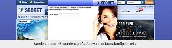 SBOBET Support und Kontakt