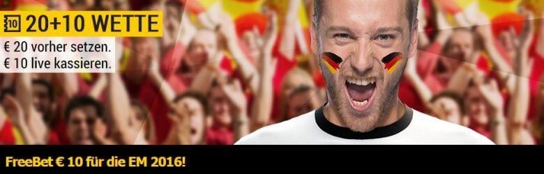 bwin Freebet zur Euro2016