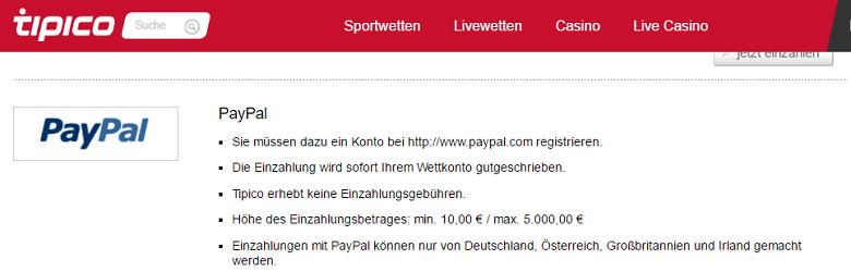 Tipico PayPal