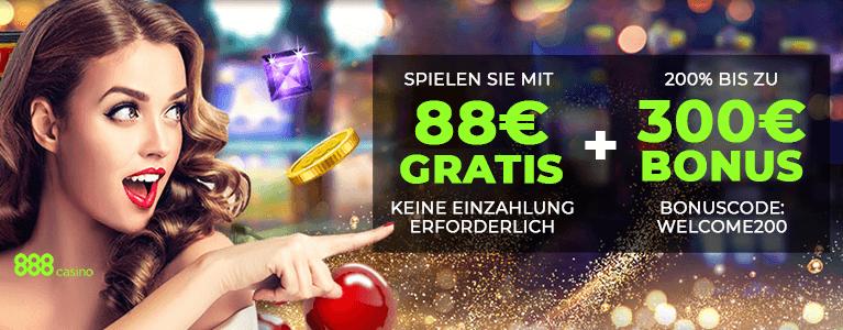 888Casino Bonus für Neukunden
