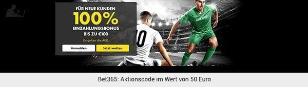 bet365 Aktionscode Wetten