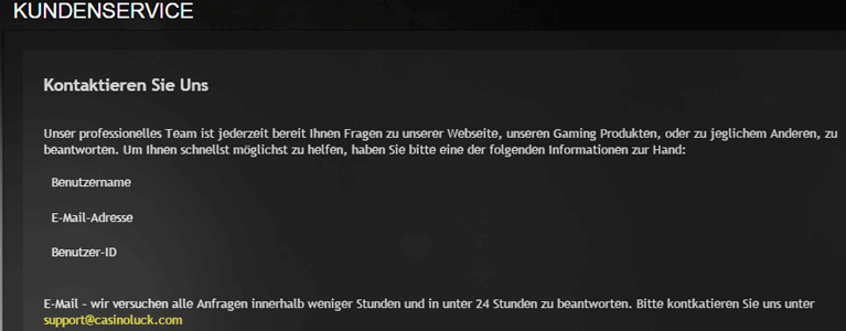 E-Mail- und Live-Chat-Support
