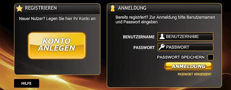 Für den Willkommensbonus muss sich der Spieler auf Casino.com anmelden