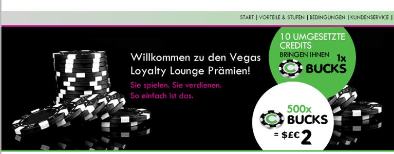 Vegas Loyalty Lounge als Zusatzangebot