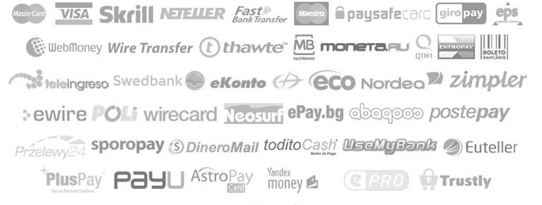Dem Kunden stehen viele Zahlungsmethoden im EU Casino zur Verfügung