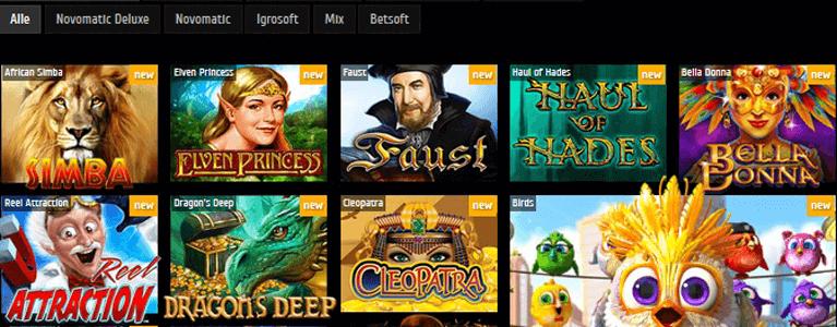 Zahlreiche Games warten im Futuriti Casino auf die Spieler