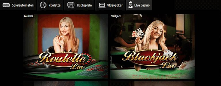 Hübsche Dealerinnen im Live Casino des Futuriti Casinos