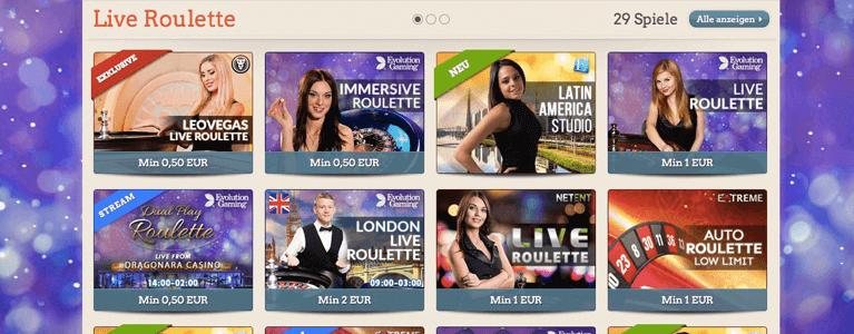 Live Roulette Leo Vegas