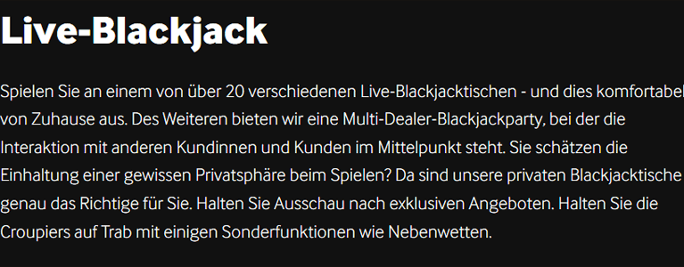 Live Blackjack und PayPal bei betway