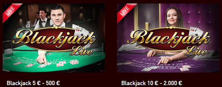 Live Casino mit Blackjack im Casino Club