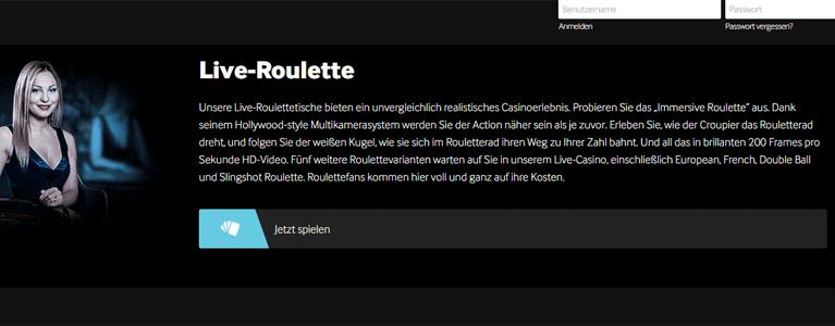 Bei betway Live Roulette spielen und mit PayPal zahlen