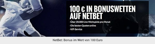 NetBet - 100 Euro Wettbonus