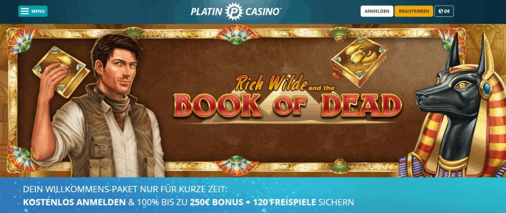 Platin Casino Book of Dead