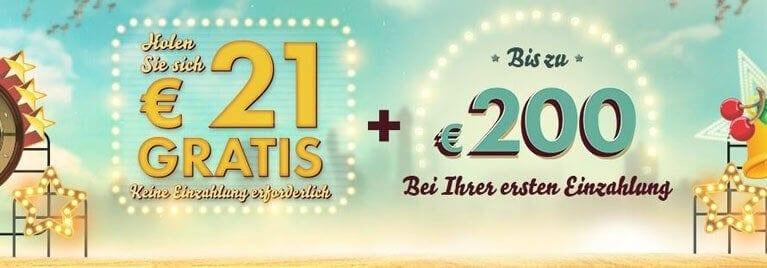 21 Euro gratis Bonus im 777 Casino sichern
