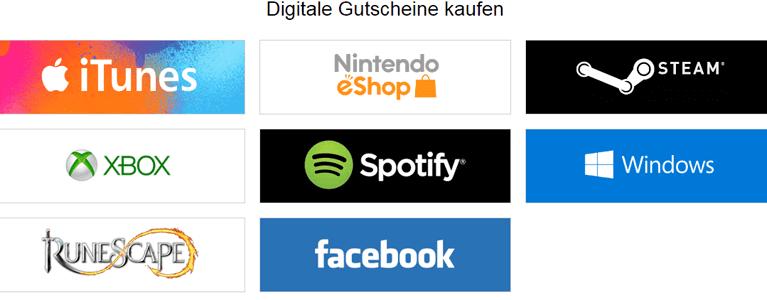 Digitales Guthaben mit PayPal kaufen