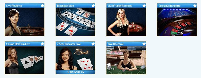 Das Prestige Casino hat auch ein Live Casino im Angebot