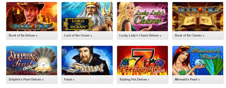 Spieleportfolio Quasar Gaming