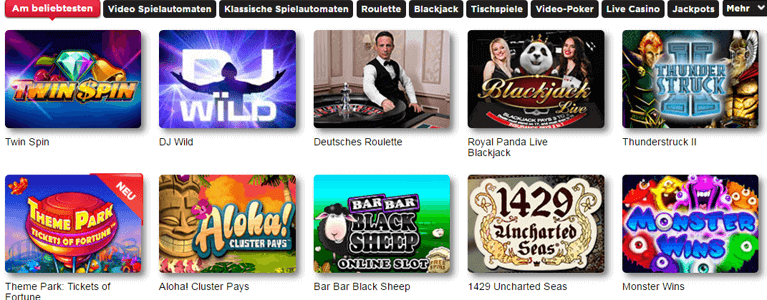 Royal Panda Spielangebot