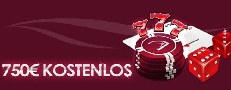 Insgesamt bis zu 750 Euro Willkommensbonus zahlt das Ruby Fortune Casino an Neukunden aus
