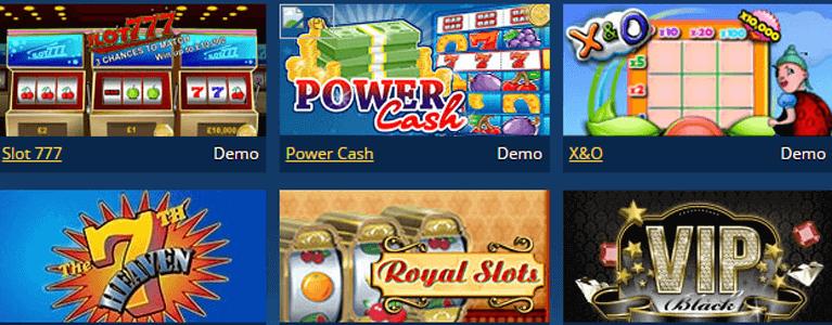 Scratch2Cash Spielauswahl