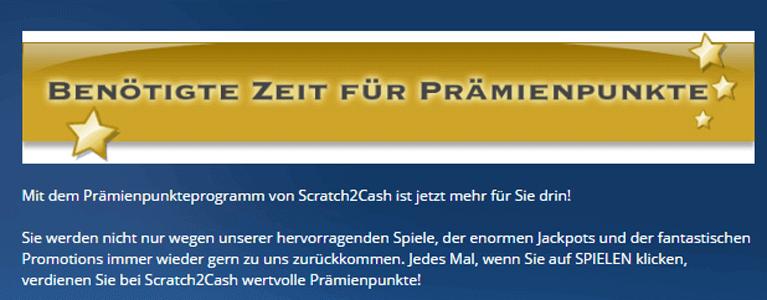 Scratch2Cash Prämienprogramm als Zusatzangebot