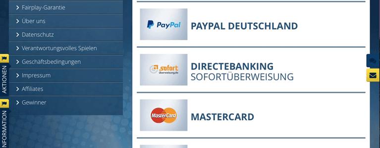 Zahlungsmethoden Übersicht