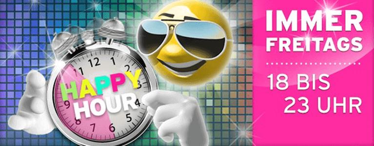 Im Sunnyplayer Casino gibt es immer freitags die sogenannte Happy Hour