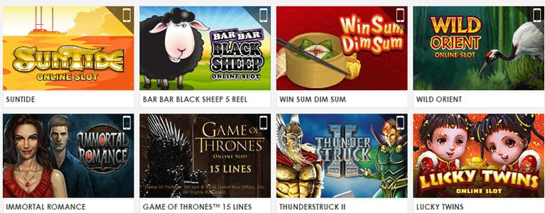 Die Spieler können aus 500 Spielen wählen